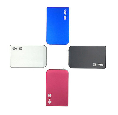 """New 320GB External HDD Portable 2.5"""" USB Hard Drive With Warranty Free Pouch"""