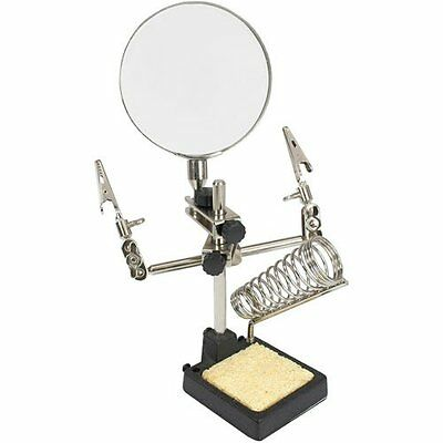 InLine 43046A Third Hand with Magnifying Glass and Soldering Iron Holder 1 item