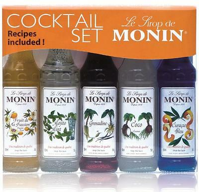 Monin Flavoured Coffee Syrup Cocktail Gift Set (5 mini bottles)