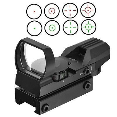 Optics Compact Reflex Red Green Dot Sight Scope 4 Reticle for Hunting LD