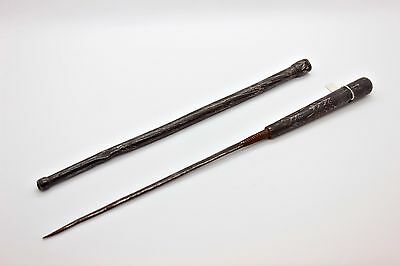 Antique Original Perfect Iron Amazing Silver Decorated Islamic Stick