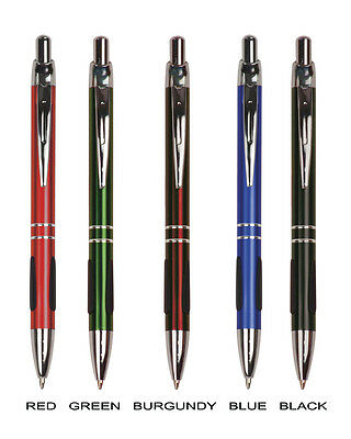 Personalized Metal GRIPPER Ink Pens - Free Engraving - Lot of 15 Pieces