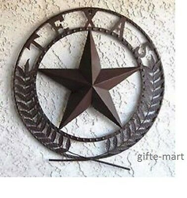 Rusty vintage TEXAS Lone Star emblem Large METAL Wall art garden outdoor Plaque