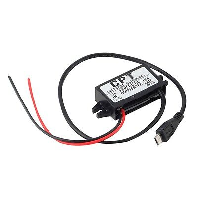 Car Charger DC Converter Module 12V To 5V 3A 15W with Micro USB Cable New KL