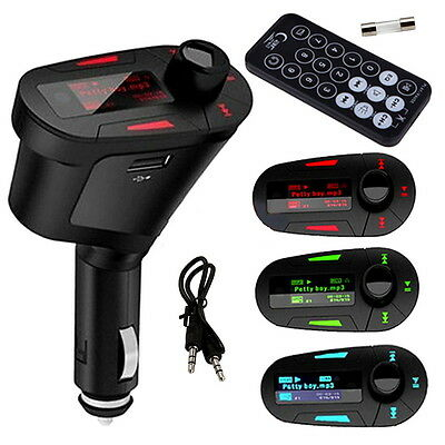 Car Kit MP3 Player Wireless FM Transmitter Modulator USB LCD Remote DD