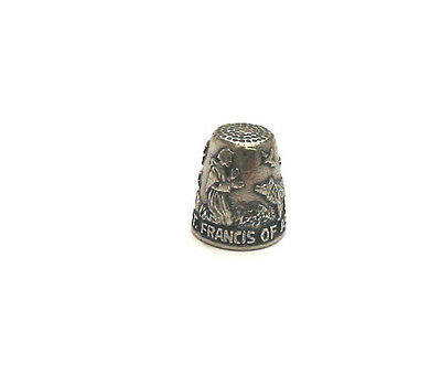 St. Francis of Assisi Thimble Patron Saint of Animals Pewter Collectible Gift
