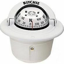NEW Ritchie Explorer F-50W Flush Mount Marine Sailboat Power Boat Compass