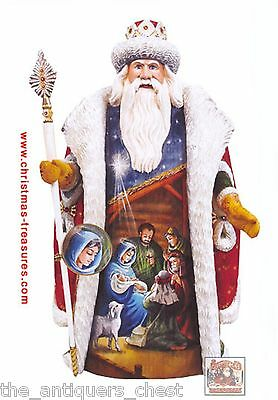 G.DeBrekht Russian Nativity Santa   New in Box with certs Resin[2]