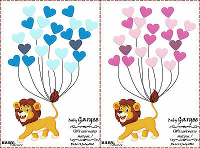 PERSONALISED Baby Shower Game Alternative to Traditional Guestbook LION Girl,Boy