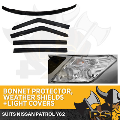 Nissan Patrol Y62 2013 Onwards BONNET PROTECTOR,WEATHER SHIELDS&light Covers