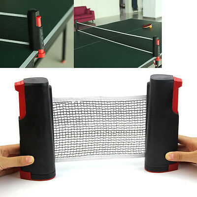 New Games Retractable Table Tennis Ping Pong Portable Net Kit Replacement Grey