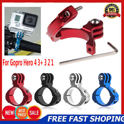 Bike Bicycle Aluminum Handlebar Bar Clamp Mount for Gopro Hero 4 3+ 3 2 1 Camera