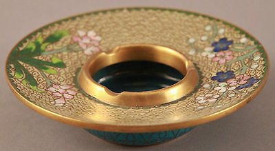 "Antique Chinese Japanese ? Parcel Gilt Bronze Cloisonne Brush Washer Bowl 5"" Pot"