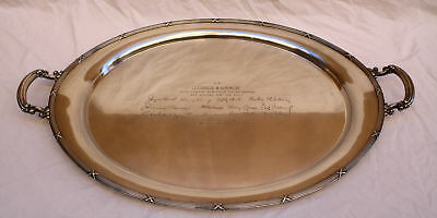 Magnificent George Burns & Gracie Allen Sterling Silver Gorham Tray  Trophy