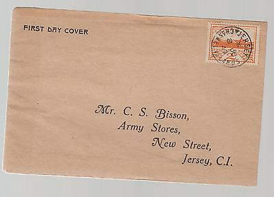 1943 Occupied Jersey Channel Island addressed fdc first day cover