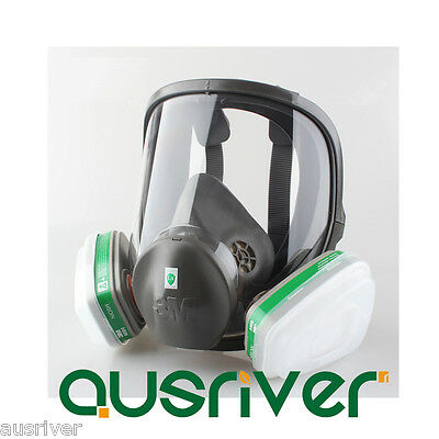 3M 6800+6004 7pcs Full Facepiece Spray Painting Large Respirator Mask Protection