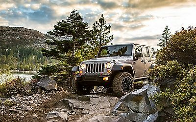 """Jeep Wrangler Rubicon - 42"""" x 24"""" LARGE WALL POSTER PRINT NEW"""
