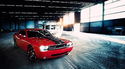 "Red Supercharged Dodge Challenger 42/"" x 24/"" LARGE WALL POSTER PRINT NEW"