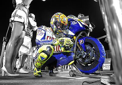 Valentino Rossi - Yamaha MotoGP - A1/A2/A3/A4 Photo/Poster Print ##1