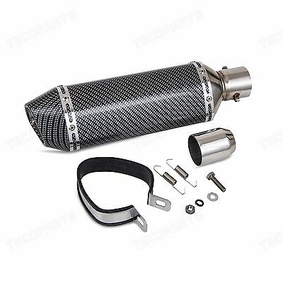 Motorcycle Exhaust Muffler with Removable DB Killer 38-51mm Carbon Fiber Color