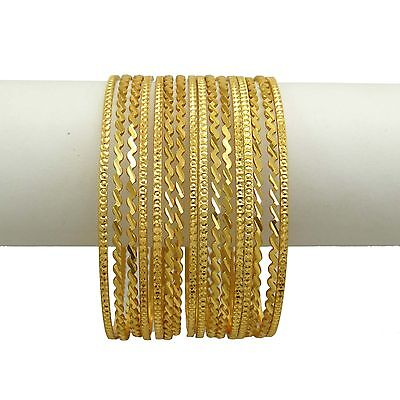 a7e54a0036bb5 GOLD-21) - BANITHANI 18K Micron Goldplated Ethnic Traditional Indian ...