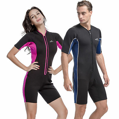 2mm Short Sleeve Wetsuits Sunscreen clothes Swimming Surfing Jumpsuit Wetsuit