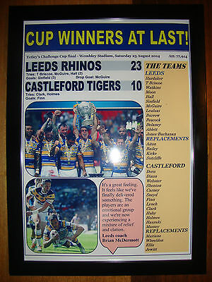Leeds Rhinos 23 Castleford Tigers 10 - 2014 Challenge Cup final - framed print