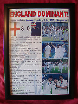 England 2013 Ashes winners - framed print