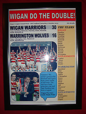Wigan Warriors 30 Warrington Wolves 16 - 2013 Grand Final - framed print