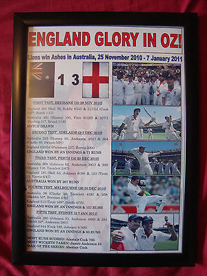 England 2010/11 Ashes winners - framed print