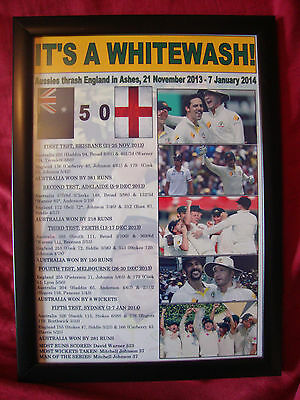 Australia 2013/14 Ashes winners - framed print