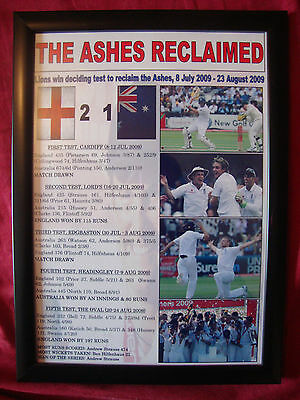 England 2009 Ashes winners - framed print