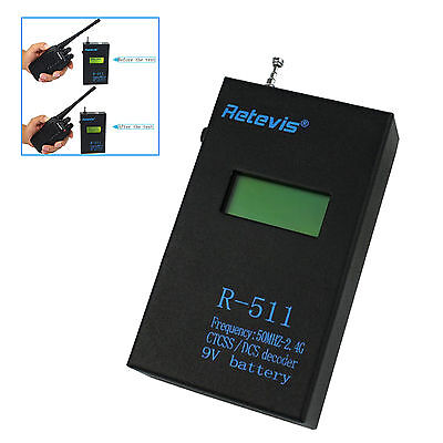 Retevis R-511 LCD Display Frequency CTCSS/DCS Decoder Counter Meter US+Tracking
