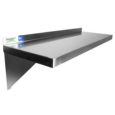 "36"" Stainless Steel Solid Wall Shelf - 18 Gauge   -  FAST Shipping !!!"
