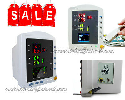 Factory CONTEC New CMS5100 portable Vital signs ICU patient monitor,NIBP SPO2 PR