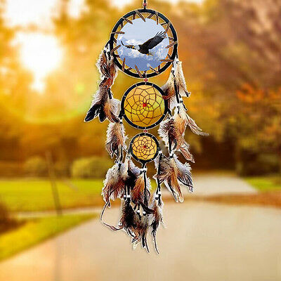 Native American Dream Catcher with Feather Bird Wall Hanging Decor Gift Ornament