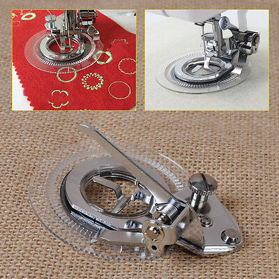 Flower Circle Stitch Presser Foot fit for Low Shank Sewing Janome Brother Singer