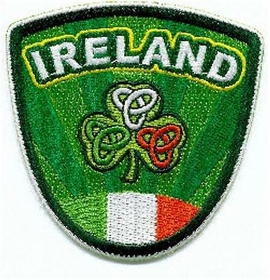 Ireland Shamrock and Tricolour Crests - Embroidered Irish Shield Patch Badge