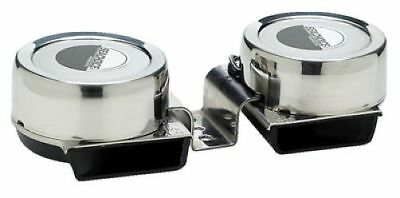 Stainless Steel Mini Compact Electric Double Boat Horn 12V Boat RV Golf Cart
