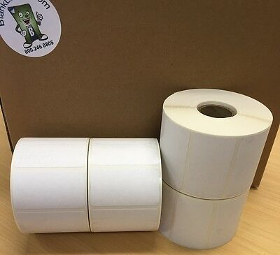 "Labels 2.25 x 1.25 (2-1/4"" x 1-1/4"") Thermal Eltron Zebra (4 Roll / 4000 Labels)"