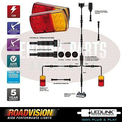 8X5 TRAILER LED WIRE KIT EASY TO INSTALL PLUG AND PLAY ... on
