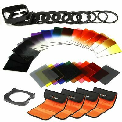 40 in 1 Square Filter Kit Graduated Full Color ND Filter Set for Cokin P Series