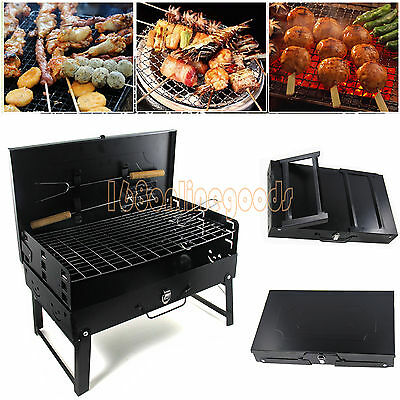 NEW BBQ Barbecue Grill Folding Portable Charcoal Garden Travel Outdoor Picnic UK
