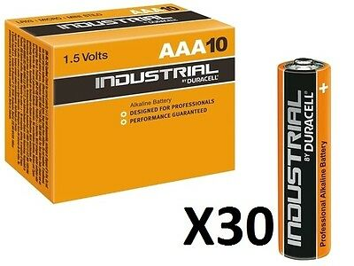 30 Batterie Duracell Industrial Mini Stilo Aaa Lr03 1,5V Pile 1,5 Vol