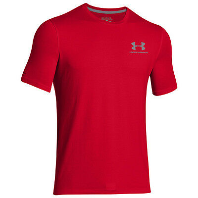 Under Armour Charged Cotton Sportstyle Gauche Poitrine Logo T-Shirt Rouge