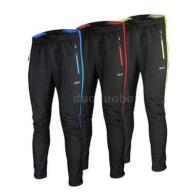 Winter Cycling Pants Warm Fleece Thermal Bicycle Long Trousers Windproof P2FC