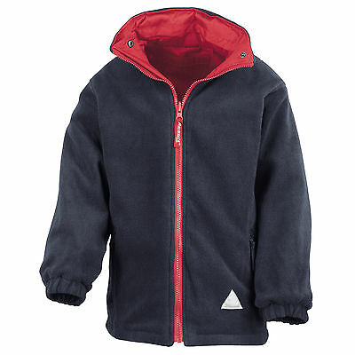 Childrens Kids School Leisure Reversible Result Waterproof Fleece Jacket