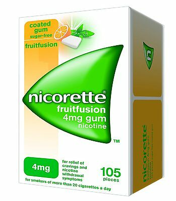 Nicorette 4 mg Fruitfusion Gum - Pack of 105 ( 3 packs )