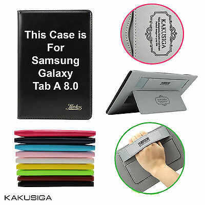 KAKUSIGA Samsung Galaxy Tab A 8.0 Case Genuine Leather Cover For Tab A 8.0 T350