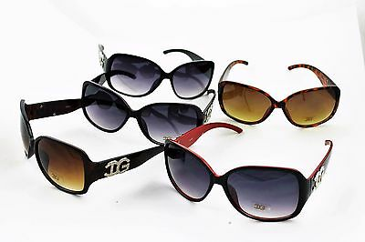 LOT OF 4 DG 80s Retro FRAME COLORS Fashion Style Sunglasses Woman